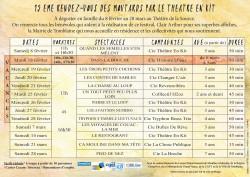 Théâtre jeunesse, Festival Rendez-vous-Moutards dates 2020