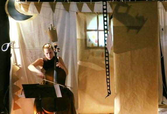 Les Rois pièce pour un violoncelle et figures animées