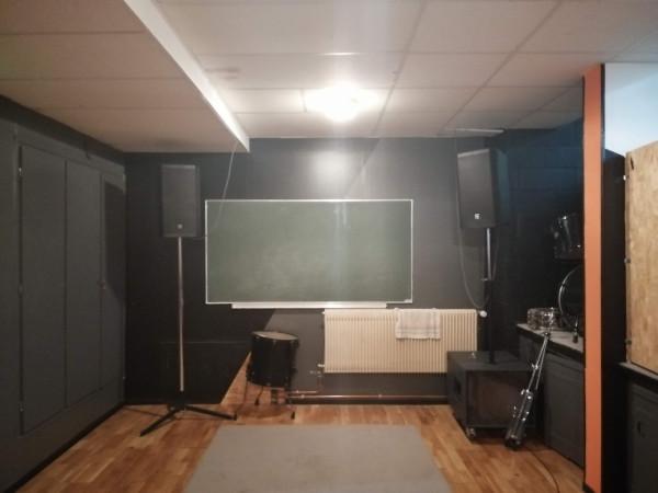 4 studios de répétition répartis dans les Maisons de quartier